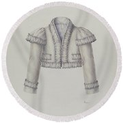 Embroidered Bolero Jacket Round Beach Towel