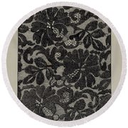 Embroidered Lace Round Beach Towel