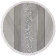 Embroidered Panel For Sleeve Round Beach Towel