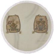 Embroidered Purse Round Beach Towel