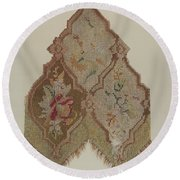 Embroidered Table Scarf Round Beach Towel