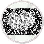 Embryonic Round Beach Towel