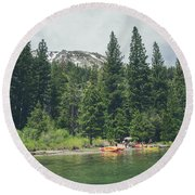 Emerald Bay Round Beach Towel by Margaret Pitcher