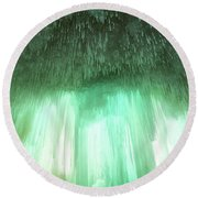 Emerald Cave - Grand Island On Lake Superior Round Beach Towel