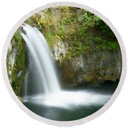 Emerald Falls Round Beach Towel