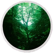 Emerald Glade Round Beach Towel