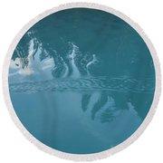 Emerald Lake Glacier Waters Round Beach Towel