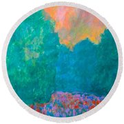 Emerald Mist Round Beach Towel