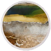 Emerald Pool - Yellowstone National Park Round Beach Towel