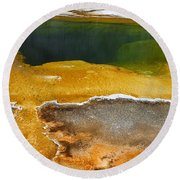 Emerald Pool 2 Round Beach Towel