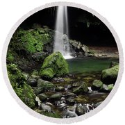Emerald Pool Round Beach Towel
