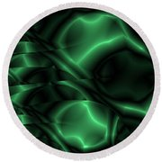 Emerald Shimmer Round Beach Towel