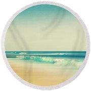 Emerald Surf Round Beach Towel