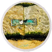 Emerald Tide Round Beach Towel