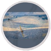 Emerging From The Valley Of Speed 16 X 9 Aspect Signature Edition Round Beach Towel