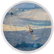 Emerging From The Valley Of Speed 5 X 7 Aspect Round Beach Towel