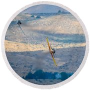 Emerging From The Valley Of Speed Round Beach Towel
