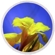 Emerging Into The Light II Round Beach Towel