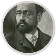 Emile Zola, French Author Round Beach Towel by Photo Researchers