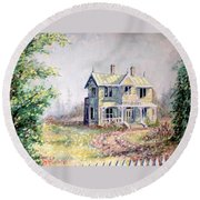 Emily Carr's Birthplace Round Beach Towel
