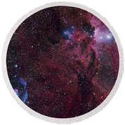 Emission Nebula Ngc 6188 Star Formation Round Beach Towel