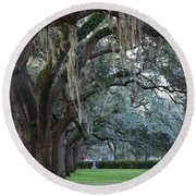 Emmet Park In Savannah Round Beach Towel