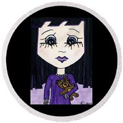 Emo Girl IIi Round Beach Towel