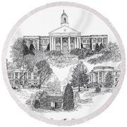 Emory And Henry College Round Beach Towel