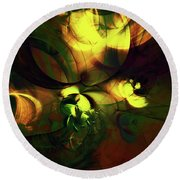 Emotion In Light Abstract Round Beach Towel