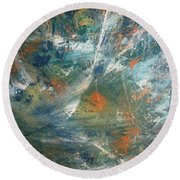Emotional Deluge Round Beach Towel