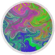 Emotional Vortex 2 Round Beach Towel