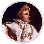 Emperor Napoleon Bonaparte  Round Beach Towel