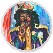 Emperor Of The Universe Round Beach Towel