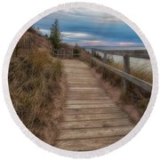 Empire Bluffs 3 Round Beach Towel