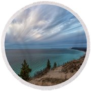 Empire Bluffs 5 Round Beach Towel
