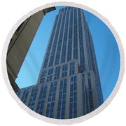 Empire State 2 Round Beach Towel