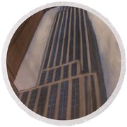 Empire State Building 1 Round Beach Towel