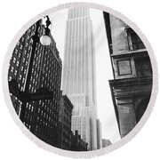 Empire State Building, 1931 Round Beach Towel