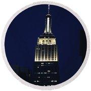 Empire State Building New York City Round Beach Towel