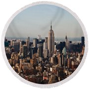 Empire State Of Mind Round Beach Towel