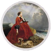Empress Eugenie Round Beach Towel