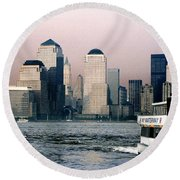 Empty Sky Round Beach Towel