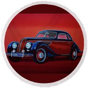 Emw Bmw 1951 Painting Round Beach Towel