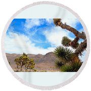 En Route To Grand Canyon West Rim Round Beach Towel