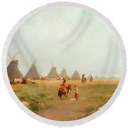 Encampment Round Beach Towel
