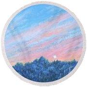 enchanced- Catching the SunSet Round Beach Towel