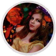 Enchanted Butterfly Round Beach Towel