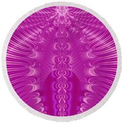 Enchanted By Pink Round Beach Towel