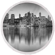 Enchanted City Round Beach Towel