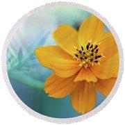 Enchanted Flower Round Beach Towel